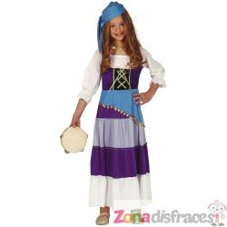 Disfraz de gitana infantil - Imagen 1