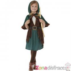 Disfraz de arquera del bosque para niña - Imagen 1