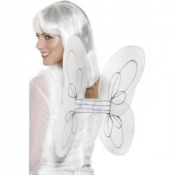 Alas de ángel blancas con brillantina - Imagen 1