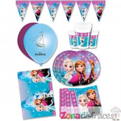 Decoración cumpleaños Frozen premium 16 personas - Northern Lights - Imagen 1