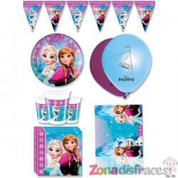 Decoración cumpleaños Frozen premium 8 personas - Northern Lights - Imagen 1