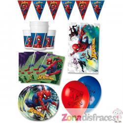 Decoración cumpleaños premium Spiderman 16 personas - Imagen 1