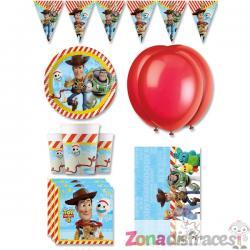 Decoración cumpleaños premium Toy Story 4 8 personas - Imagen 1