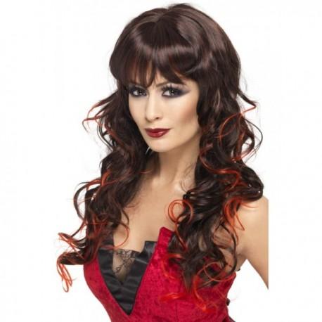 Peluca de bruja negra y roja - Imagen 1