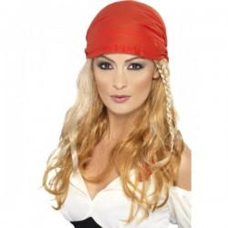 Peluca de princesa pirata rubia - Imagen 1