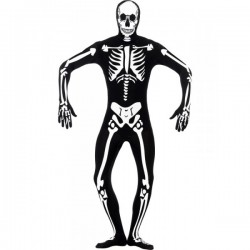 Disfraz de esqueleto brillante en la oscuridad segunda piel - Imagen 1