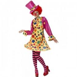 Disfraz de payasa multicolor - Imagen 1