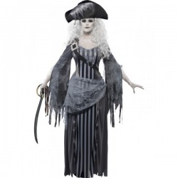 Disfraz de princesa pálida de barco fantasma - Imagen 1