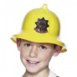 Casco de bombero amarillo - Imagen 1