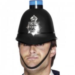 Casco de policía con luz de sirena - Imagen 1