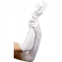 Guantes blancos largos elegantes - Imagen 1