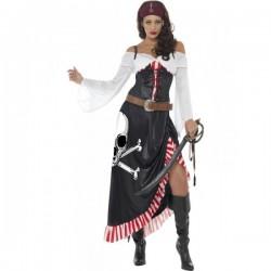 Disfraz de espadachín pirata para mujer - Imagen 1