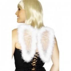 Mini alas de brillantina blancas - Imagen 1