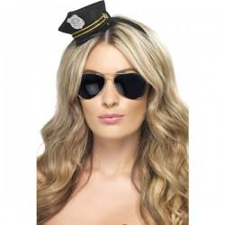 Mini gorra de policía - Imagen 1