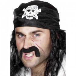 Pañuelo de pirata negro - Imagen 1