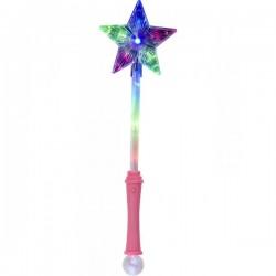 Varita mágica con estrella rosa - Imagen 1