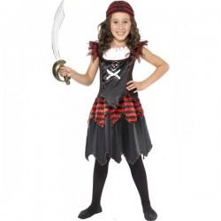 Disfraz de piratilla para niña - Imagen 1