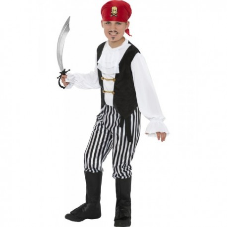 Disfraz de pirata granuja para niño - Imagen 1