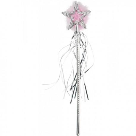 Varita de hada con estrella plateada - Imagen 1