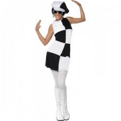 Disfraz de fiesta años 60 para mujer - Imagen 1