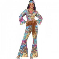 Disfraz de flowerpower hippie para mujer - Imagen 1