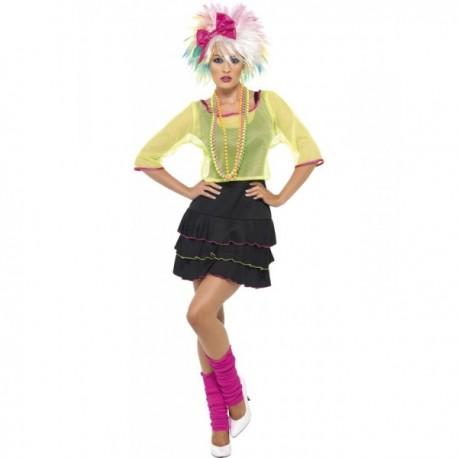 Disfraz de fiesta pop años 80 para mujer - Imagen 1