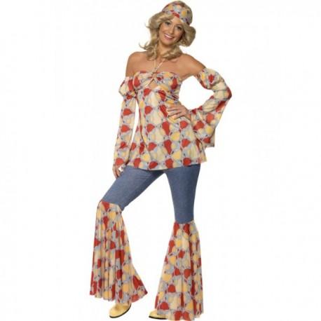 Disfraz de hippie vintage para mujer - Imagen 1