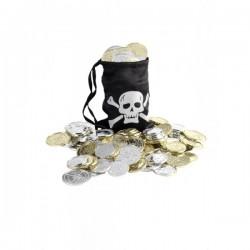 Bolsa pirata con monedas - Imagen 1