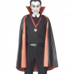Capa de vampiro reversible negra y roja - Imagen 1