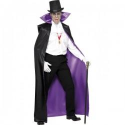 Capa de vampiro reversible negra y morada - Imagen 1