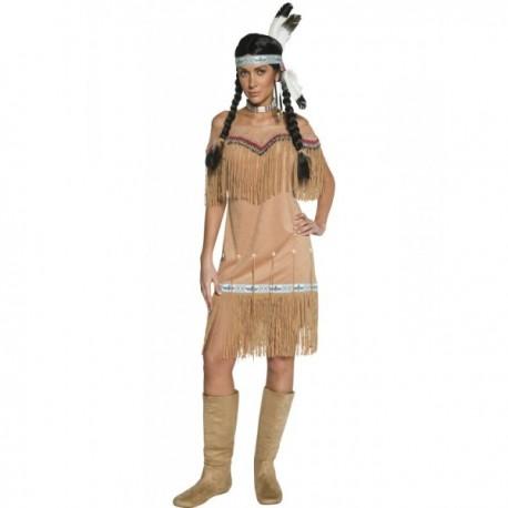 Disfraz de mujer india del viejo Oeste con flecos - Imagen 1