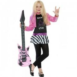 Disfraz de glamurosa estrella de rock para niña - Imagen 1