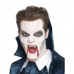 Colmillos de vampiro deluxe - Imagen 1